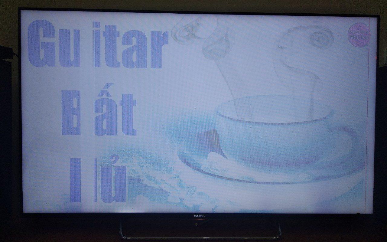Cách khắc phục màn hình tivi kẻ ngang
