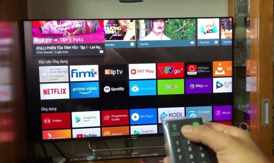Hướng dẫn kết nối mạng trên Internet tivi Sony model 2016