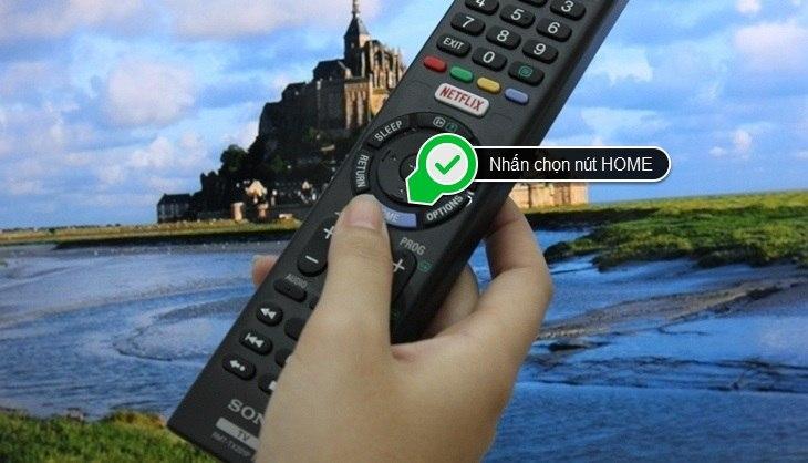 kết nối mạng trên Internet tivi Sony model 2016